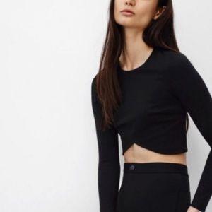 ARITZIA Long Sleeve Crop Top Black M
